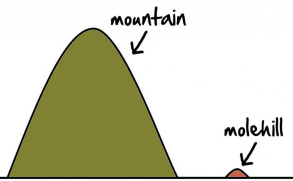 Climbing the molehill to reach the top of a mountain