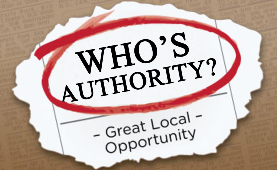 On the authority of Who?